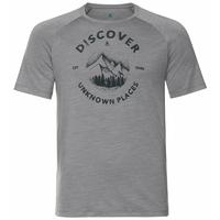 Men's CONCORD T-Shirt, grey melange - discover print SS20, large