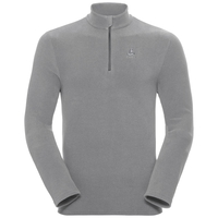 Pull ½ zippé ROY pour homme, platinum grey - odlo steel grey - stripes, large