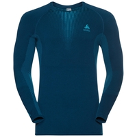 PERFORMANCE WARM-basislaagtop met lange mouwen voor heren, poseidon - blue jewel, large