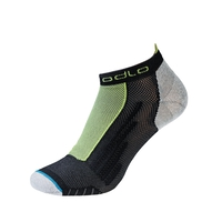 Kurze LIGHT Socken, black - acid lime, large