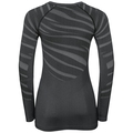 Damen BLACKCOMB Funktionsunterwäsche Langarm-Shirt, black - odlo concrete grey, large