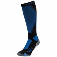 Unisex MUSCLE FORCE ACTIVE WARM Ski Socks, black - directoire blue, large