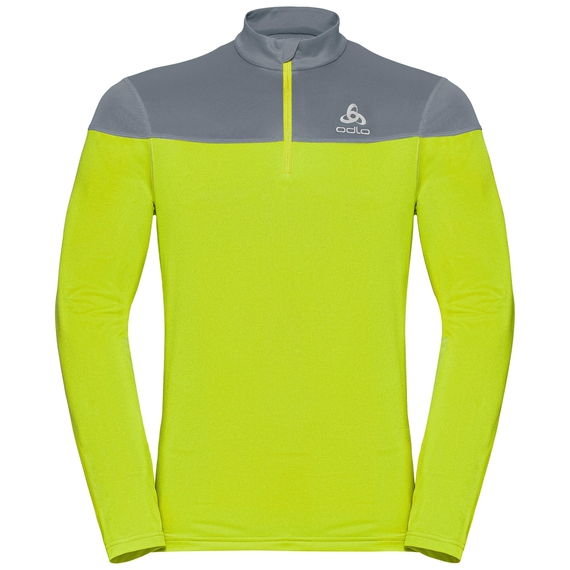 Men's CERAMIWARM ELEMENT 1/2 Zip Midlayer, safety yellow (neon) - bering sea, large