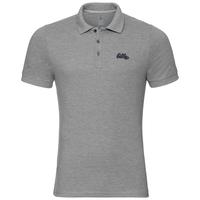 TRIM polo shirt, grey melange, large