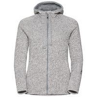 Hoody midlayer full zip Sherpa Hoody, grey melange, large