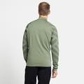 Men's CONCORD PRINT Full-Zip Mid Layer, matte green melange - graphic SS21, large