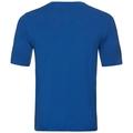 Natural 100 Merino Warm baselayer shirt short sleeve men, energy blue - grey melange, large