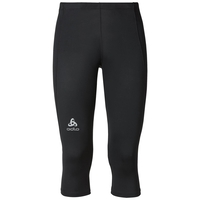 SLIQ running Tights 3/4 men, black, large