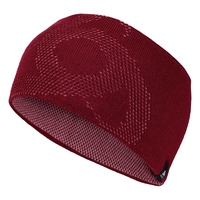 Bonnet MAILLE FINE REVERSIBLE Warm, rumba red - mesa rose, large