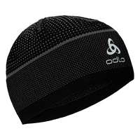 Cappello VELOCITY CERAMIWARM, black - odlo steel grey, large