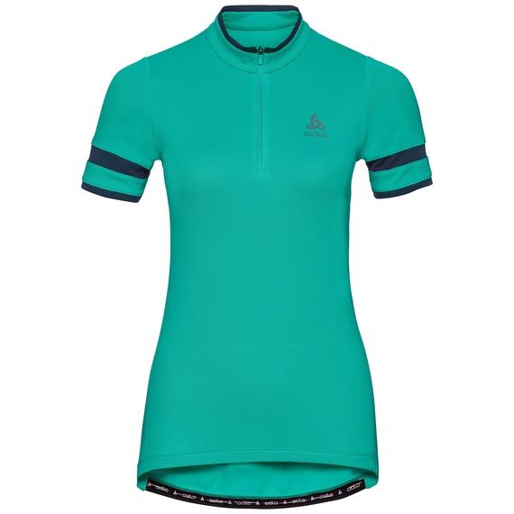 BREEZE cycling jersey women, pool green, large