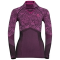 Shirt l/s with Facemask Blackcomb EVOLUTION WARM, black - pink glo, large