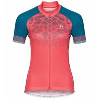 Maillot Cycle zippé à manches courtes ELEMENT PRINT pour femme, dubarry - crystal teal, large