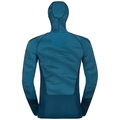 Men's BLACKCOMB Long-Sleeve Base Layer Top with Face Mask, poseidon - blue jewel - atomic blue, large