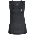 SUW TOP V-neck Singlet ACTIVE Cubic LIGHT 2 Pack, ebony grey - black, large