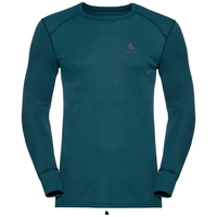Men's ACTIVE WARM Long-Sleeve Base Layer Top, blue coral, large