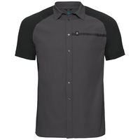 Camicia m/c SAIKAI COOL PRO, odlo graphite grey - black, large