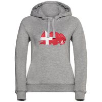 Hoody midlayer SQUAMISH CITY PROGRAM, grey melange print, large