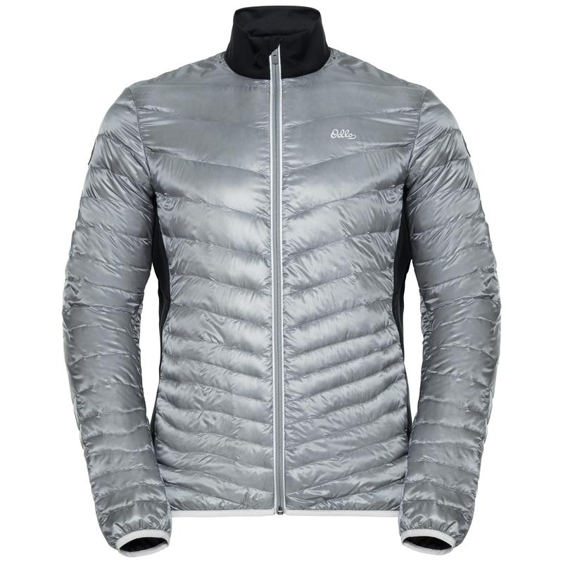 Jacket insulated GREGOR COCOON, odlo silver grey - black, large