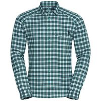Shirt l/s BURNABY, peacoat - lake blue - humus - check, large
