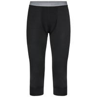 Men's NATURAL 100% MERINO WARM 3/4 Base Layer Pants, black, large
