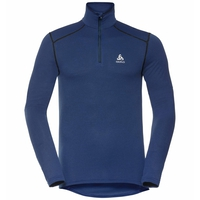Men's ACTIVE THERMIC Turtleneck Baselayer, estate blue melange, large