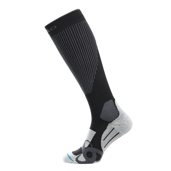 Socks extra long MUSCLE FORCE SKI LIGHT, black - odlo graphite grey, large