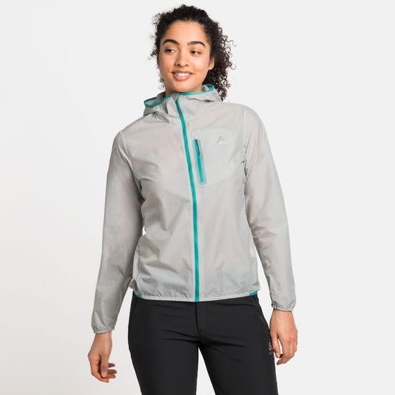 Women's FLI WINDPROOF DWR Jacket, odlo silver grey, large