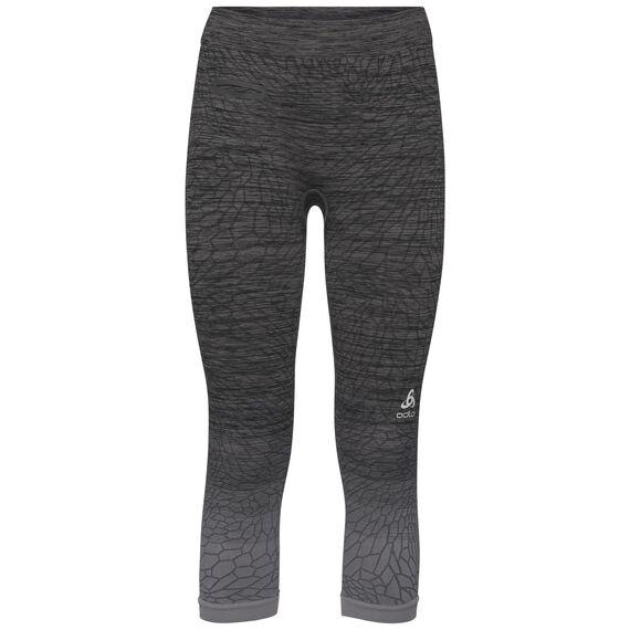 BL Bottom 3/4 MaIa, odlo steel grey - black, large