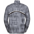 Men's ZEROWEIGHT AOP Jacket, odlo steel grey - graphic FW20, large