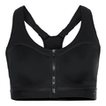 HIGH Front Closure sports bra, black, large