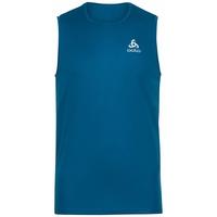 Men's ESSENTIAL Base Layer Running Singlet, mykonos blue, large