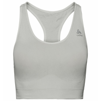 Women's SEAMLESS MEDIUM CERAMICOOL Sports Bra, silver cloud melange, large