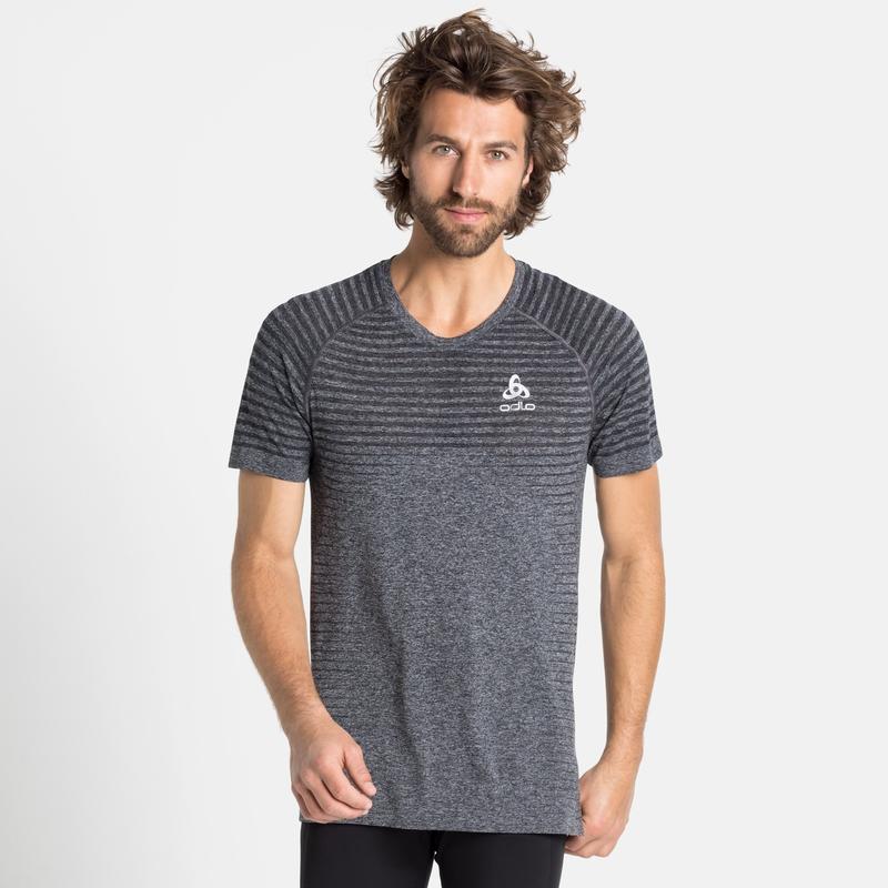 SEAMLESS ELEMENT-T-shirt voor heren, grey melange, large