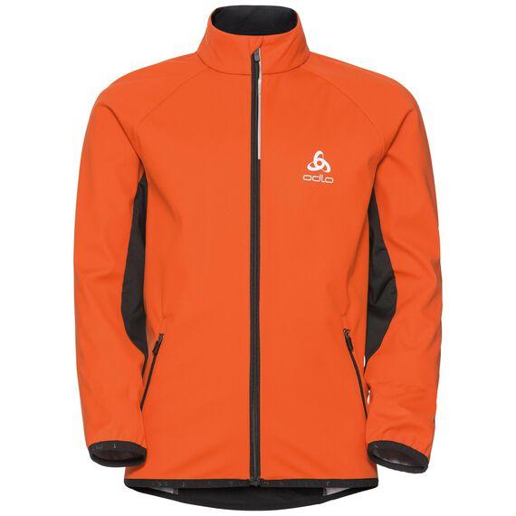 Cross-country jacket STRYN Kids, orangeade - black, large