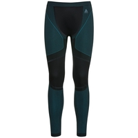 Men's PERFORMANCE WINDSHIELD XC LIGHT Base Layer Pants, black - lake blue, large