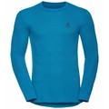 Men's ACTIVE WARM Long-Sleeve Baselayer Top 2 Pack, black - blue jewel, large