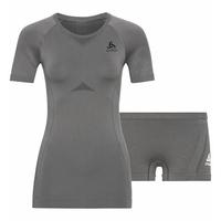 Women's PERFORMANCE EVOLUTION Light Base Layer Set, odlo steel grey - odlo graphite grey, large