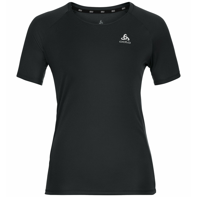 Damen ESSENTIAL Laufshirt, black, large