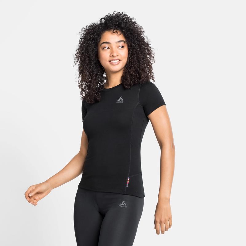 Women's MERINO 200 Base Layer Top, black - black, large
