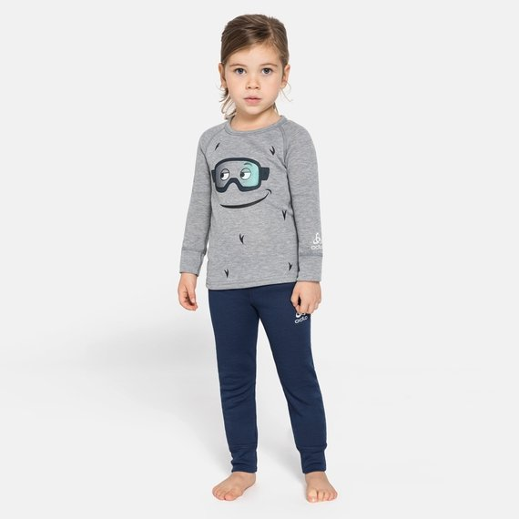 Set ACTIVE WARM ECO TREND KIDS (small), diving navy - grey melange - graphic FW20, large