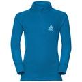 ACTIVE WARM KIDS Funktionsunterwäsche Langarm-Shirt mit 1/2 Reißverschluss & Stehkragen, mykonos blue, large