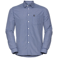 MEADOW  shirt, white - indigo, large