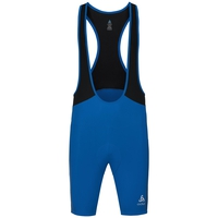 Men's ELEMENT Short Cycling Tights with Suspenders, energy blue - black, large