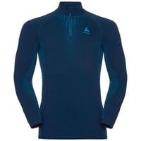 SUW Top Turtle neck 1/2 zip l/s PERFORMANCE Warm, poseidon - blue jewel, large