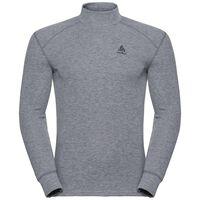 Shirt met col l/m active originals Warm, grey melange, large