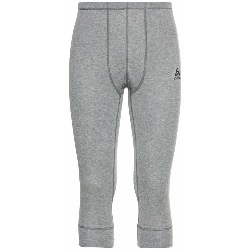 Men's ACTIVE WARM ECO 3/4 Base Layer Pants, odlo steel grey melange, large