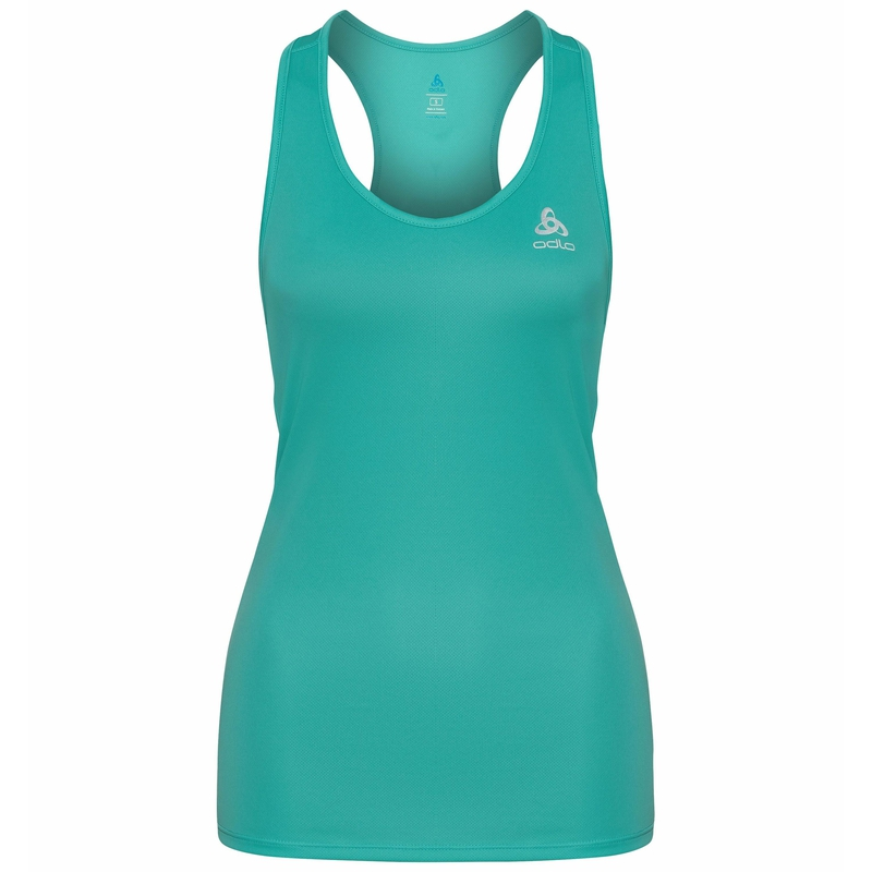 Women's ESSENTIAL Base Layer Running Singlet, jaded, large
