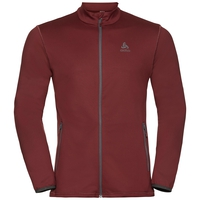 Men's ALAGNA Full-Zip Midlayer Top, syrah, large