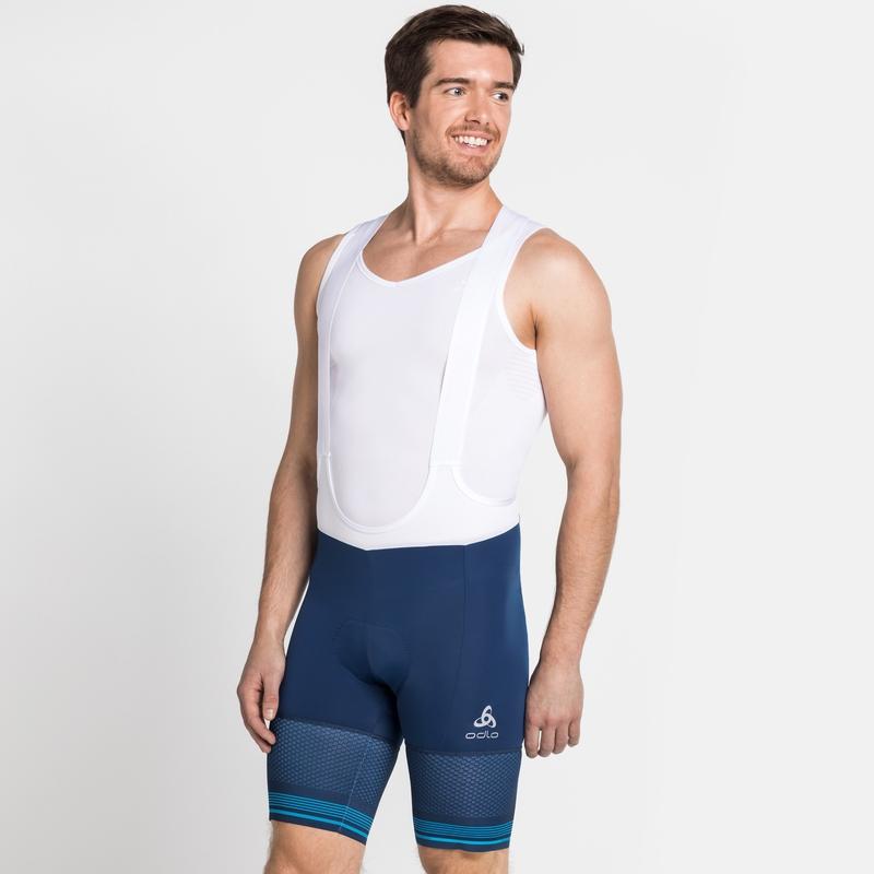 Men's ZEROWEIGHT CERAMICOOL PRO Cycling Bib Shorts, estate blue, large